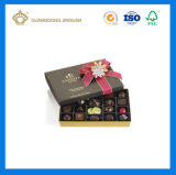 Caixa de papel de papel extravagante de embalagem do chocolate da alta qualidade (com folha do logotipo)