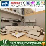 Grande sofà di cuoio d'angolo di disegno moderno (TG-6122)