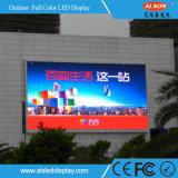 Pantalla video fija de la pared P12 de la INMERSIÓN al aire libre LED para la cartelera