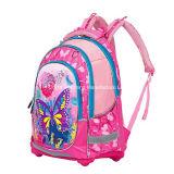 Base borracha, borboleta, crianças, meninas, macio, estudante, mochila, escola, saco