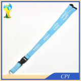 Single Side Logo Printing Lanyard with Breakaway Buckle