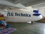 Elio commerciale che fa pubblicità al dirigibile gonfiabile
