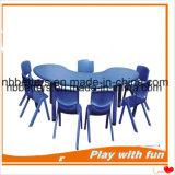 Tableau en plastique rond réglable de meubles de jardin d'enfants de premier vendeur