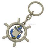 주문 공수 회전시키는 연약한 사기질 기념품 금속 Keychain