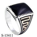 Jóias de 925 jóias de prata Anel de homem de esmalte