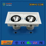 High Power 30W * 2 Bridgelux LED Grille Light para iluminação comercial