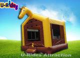 Het Springen van het Paard van Ce uitsmijterhuis, het springen bouncy, jonge geitjes opblaasbare uitsmijter