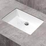 Dissipadores quadrados de pedra artificiais brancos de Undermount do banheiro (171212)