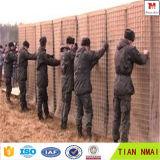4.0mm 의 보호를 위한 75mm*75mm 구멍 Hesco 요새 벽