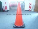 Cone estável do tráfego do tamanho do PE dois da base 500mm de Heavior