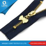 Fermeture éclair en métal doré pour sac zippé