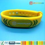 Impressão feita sob encomenda programável MIFARE do logotipo de HUAYAUN mais Wtistband à moda para o controle de acesso