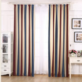 Clásico Chenille Vertical Stripes Blackout Tela Cortina
