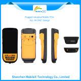 手持ち型のモバイル・コンピュータ、PDAのバーコードのスキャンナー、プリンター、RFIDの読取装置