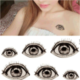 Etiqueta engomada impermeable del tatuaje del arte de la etiqueta engomada del tatuaje del ojo grande de Víspera de Todos los Santos