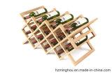 Шкаф вина твердой древесины для шкафа хранения стойки индикации Gemotry