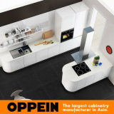 Oppein heiße Verkaufs-moderne weiße Acrylküche-kleine Küche (OP16-A03)