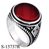 Modelos nuevos de la joyería de la manera 925 anillos de plata de los hombres con la piedra