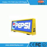 P5 для использования вне помещений водонепроницаемый такси верхний дисплей со светодиодной подсветкой для рекламы