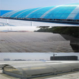 Folha ondulada reciclado de policarbonato Lexan 3mm para abrigo automóvel