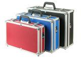 Tamaño personalizado de almacenamiento de transporte de aluminio transparente caso de herramientas