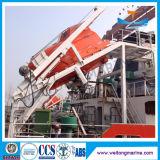 La caída libre el lanzamiento de aparato barco Davit