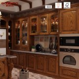 Diseño antiguo pintado Red Oak Kitchen Cabinet (GSP5-042)