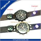 플래쉬 등 나침의 기능을%s 가진 크로노그래프 스포츠 손목 시계