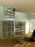 Diseño de la escalera del acero inoxidable/escaleras de madera
