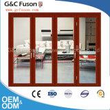 Porte de pliage en verre d'interruption de modèle en aluminium thermique de porte