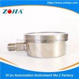 Calibrador de presión del tubo de bordón del acero inoxidable