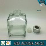 bouteille en verre de diffuseur carré du parfum 200ml avec le couvercle à visser
