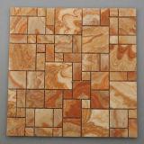 Mosaico colorido hermoso del mármol de Onyx del cuadrado de la piedra del mosaico