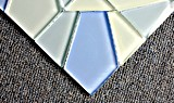 Mattonelle di mosaico di vetro interne di nuovo arrivo di Foshan per la decorazione domestica