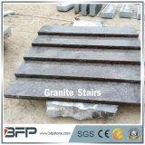 Piso de pedra calcária da Pedra Azul polida para escadas de piso horizontal