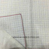 Splitter-Garn-weißer Check mit Glanzschuss-Wolle-Gewebe-Aktien