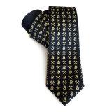 人の高品質100%年の編まれた絹製ネクタイ