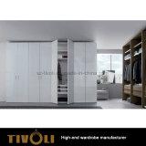 Samllの引出しTivo-0002hwが付いている立つ白いワードローブの戸棚