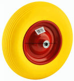 Flat Free Diamond Pattern Wheelbrrow Tire PU Foam Wheel 4.80 / 4.00-8