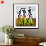 Abstraktes modernes Tanzen-afrikanisches Frauen-Ölgemälde