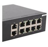 Interruptor rápido portuário do Ethernet 8 com 2 portas de Ethernet do gigabit do Uplink