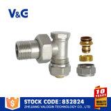 Brass control de flujo de agua del radiador de la válvula (VG-K13021)