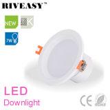 7W lampe DEL Downlight du projecteur DEL d'éclairage de 3.5 pouces