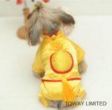 Royal Golden Pet Jumpsuit Chinois Nouvel An Costumes de chien