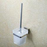 Ручка комплекта щетки туалета ванной комнаты латунная с держателем стены держателя, Polished нержавеющей сталью