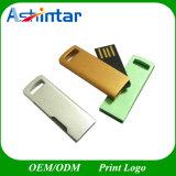 Mini vara do USB do giro do disco instantâneo do USB do metal