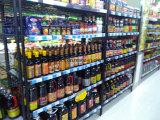 NSF 4 Rek van de Supermarkt van het Metaal van Rijen het Regelbare Materiële Europese, 16 Jaar van de Fabriek