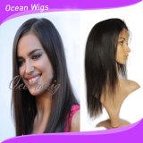 方法卸し売り様式100%のブラジルの人間の毛髪のレースの前部かつら