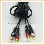 2 RCA / 2r AV / TV / Audio Cable Plug a 2 RCA / Jack 2R, 2R-2R cable de interconexión