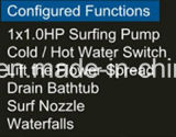 vasca da bagno moderna d'angolo di 1360mm (AT-LW0807)